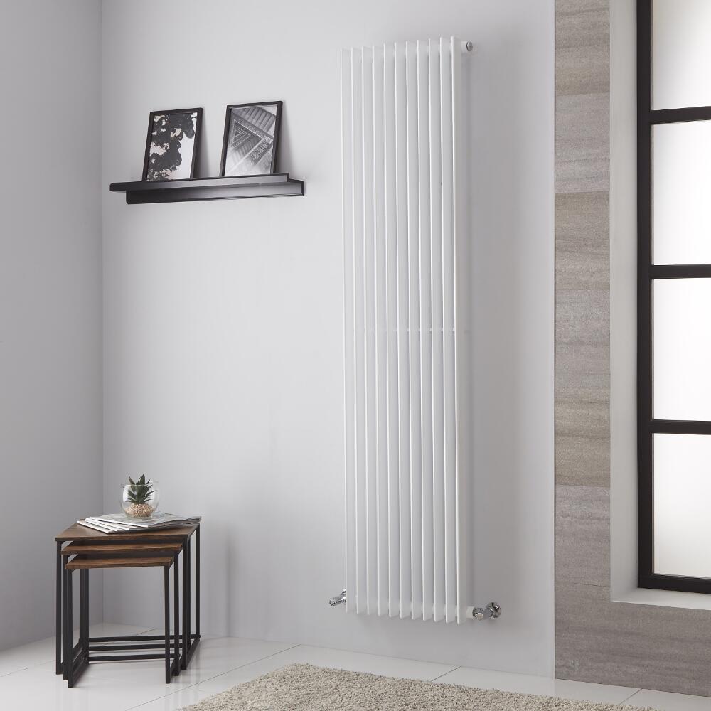 Lazzarini Way Arezzo - White Vertical Designer Radiator - 1800mm x 445mm