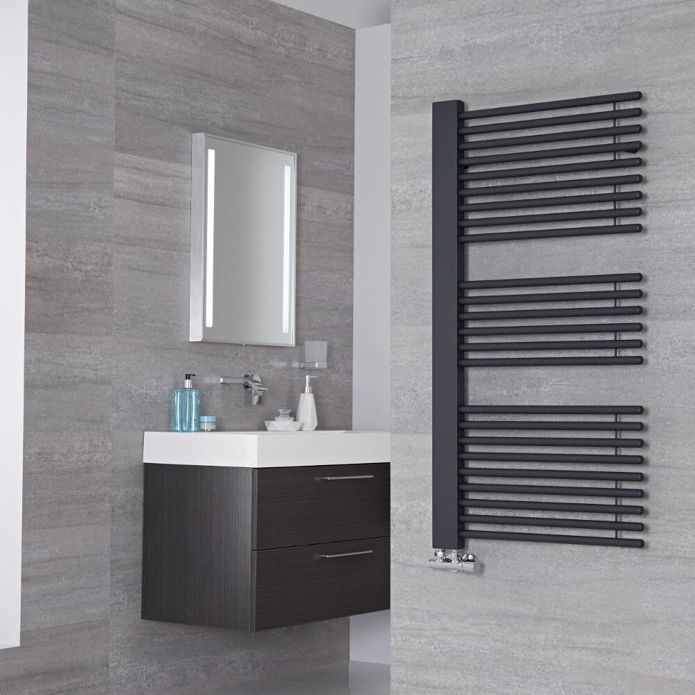 Lazzarini Way Grando - Anthracite Designer Heated Towel Rail - 1190mm x 600mm