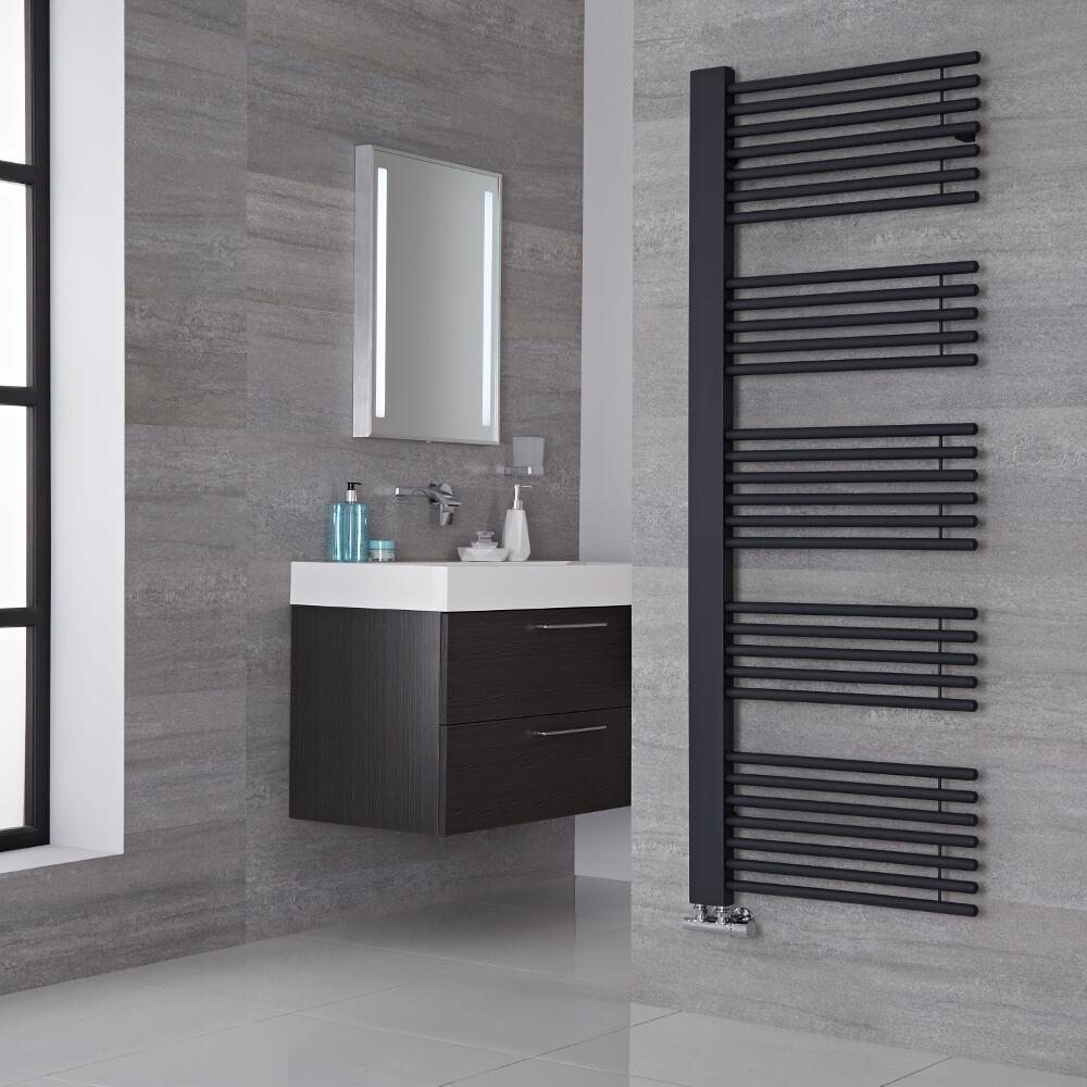 Lazzarini Way Grado - Anthracite Designer Heated Towel Rail - 1600mm x 600mm