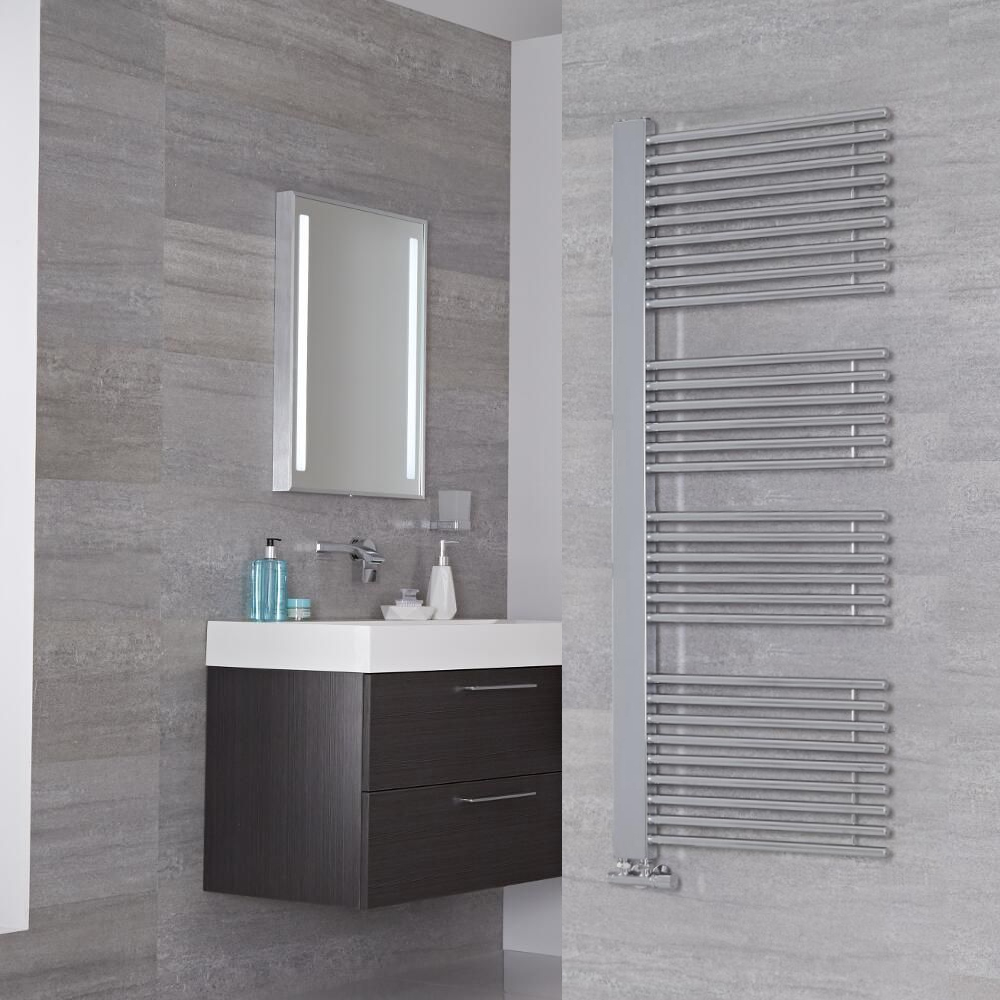 Lazzarini Way Grado - Chrome Designer Heated Towel Rail - 1600mm x 600mm