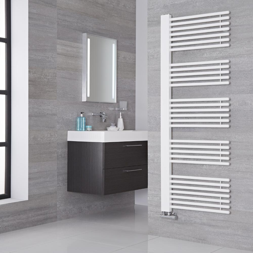 Lazzarini Way - Grado - White Designer Heated Towel Rail - 1600mm x 600mm