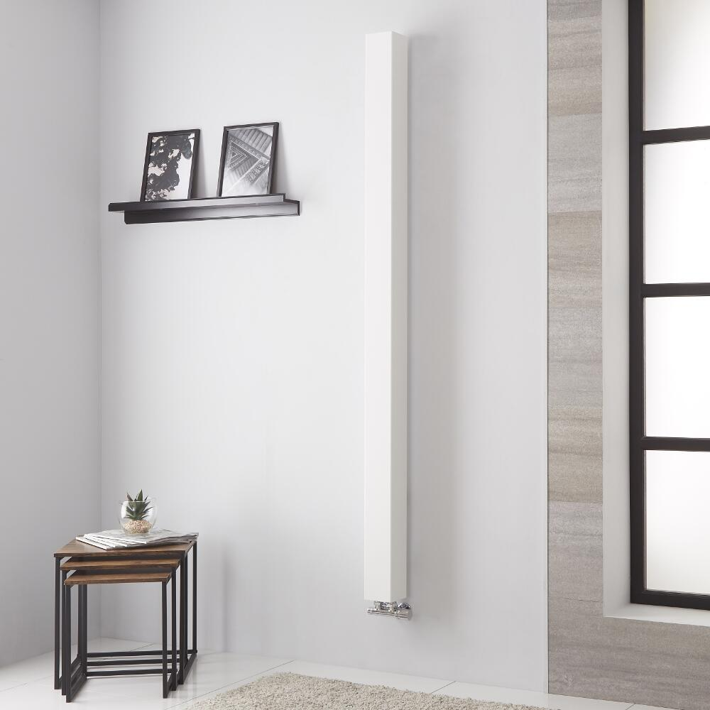 Lazzarini Way Onetube - White Vertical Designer Radiator - 1800mm x 100mm