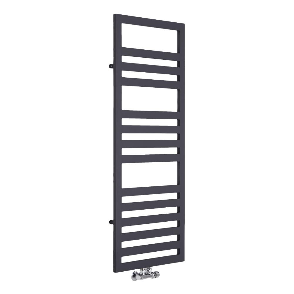 Lazzarini Way - Urbino - Anthracite Designer Heated Towel Rail - 1200mm x 500mm