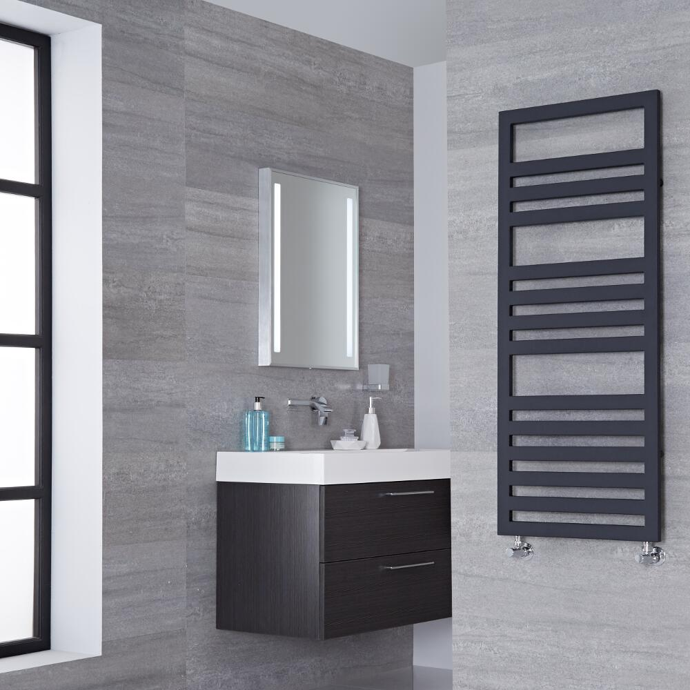 Lazzarini Way Urbino - Anthracite Designer Heated Towel Rail - 1200mm x 500mm