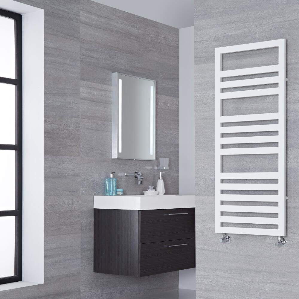 Lazzarini Way Urbino - White Designer Heated Towel Rail - 1200mm x 500mm
