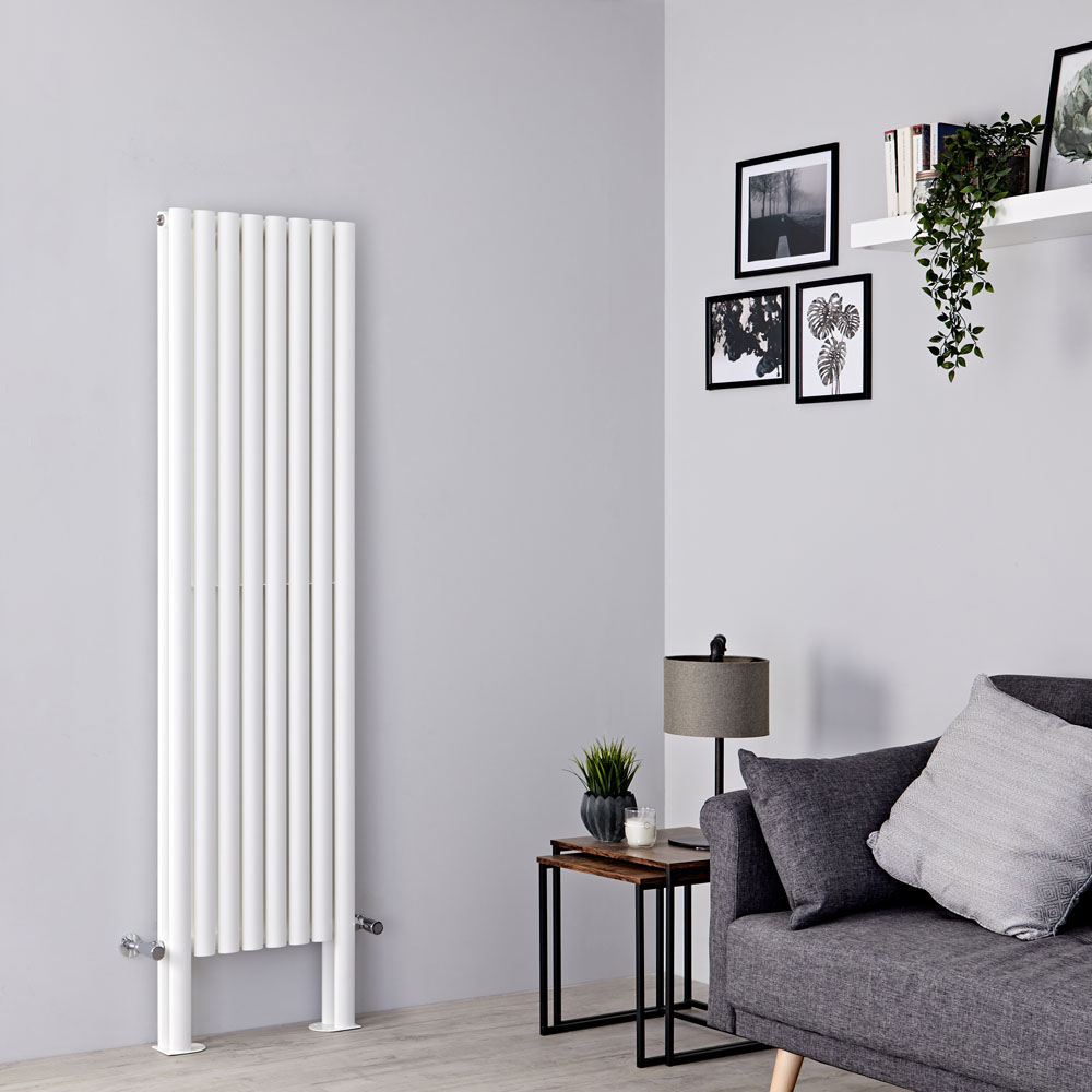Milano Aruba Plus - White Vertical Designer Radiator - 1800mm x 472mm (Double Panel)