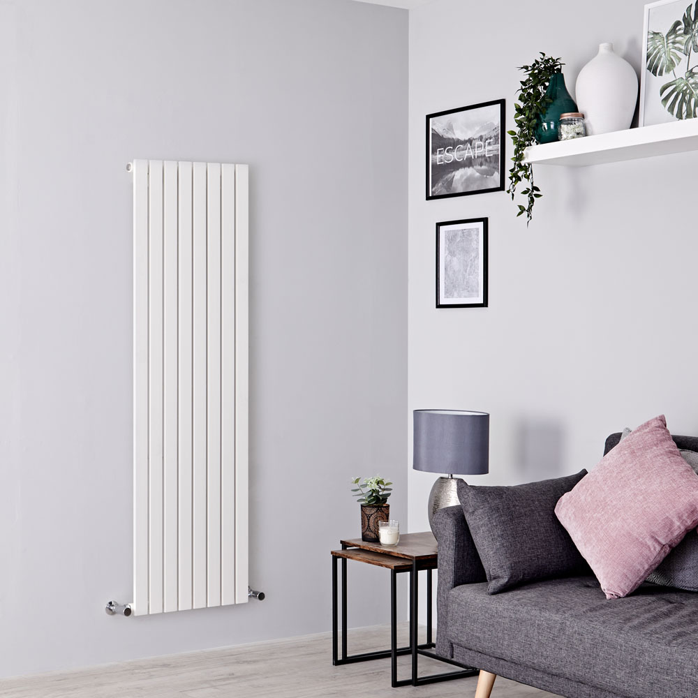 Milano Capri - White Flat Panel Vertical Designer Radiator - 1600mm x 472mm