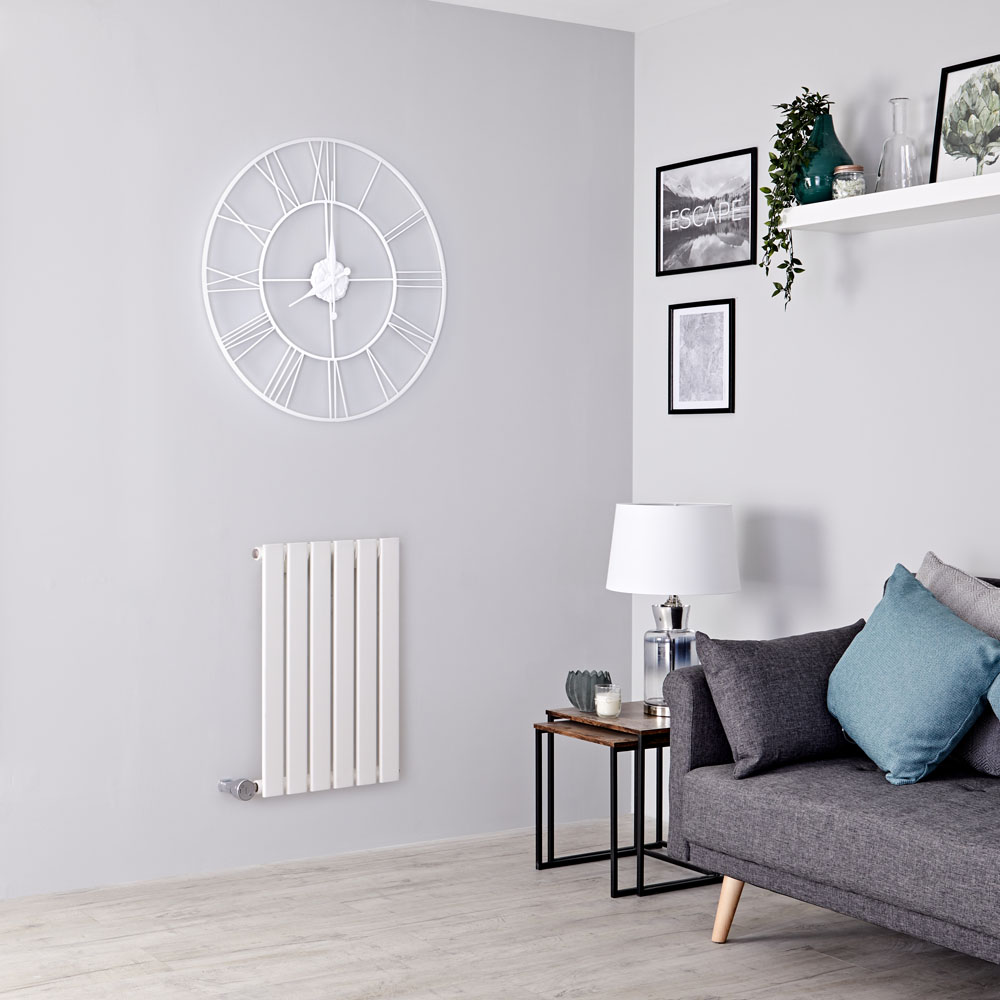 Milano Alpha Electric - White Horizontal Designer Radiator - 635mm x 420mm