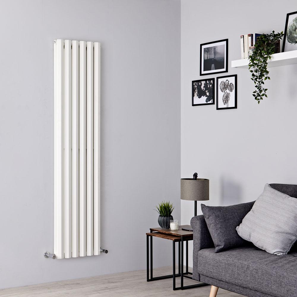 Milano Viti - White Diamond Panel Vertical Designer Radiator - 1600mm x 420mm (Double Panel)