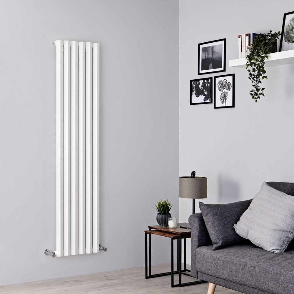 Milano Viti - White Diamond Panel Vertical Designer Radiator - 1600mm x 420mm