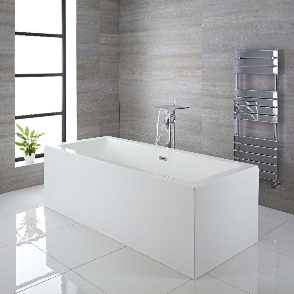 Milano Westby White Modern Square Double Ended