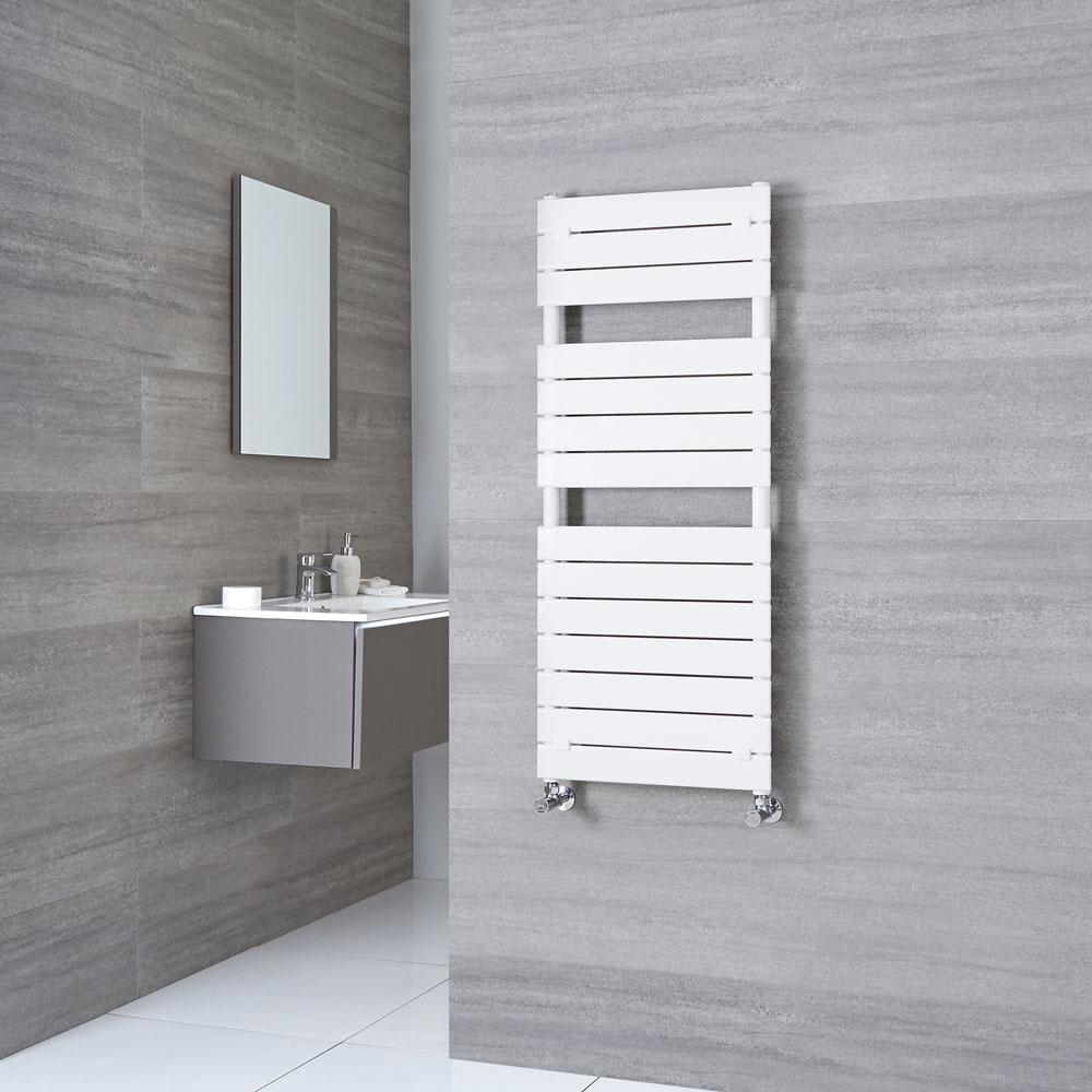 Milano Lustro - White Designer Heated Towel Rail - 1213mm x 500mm