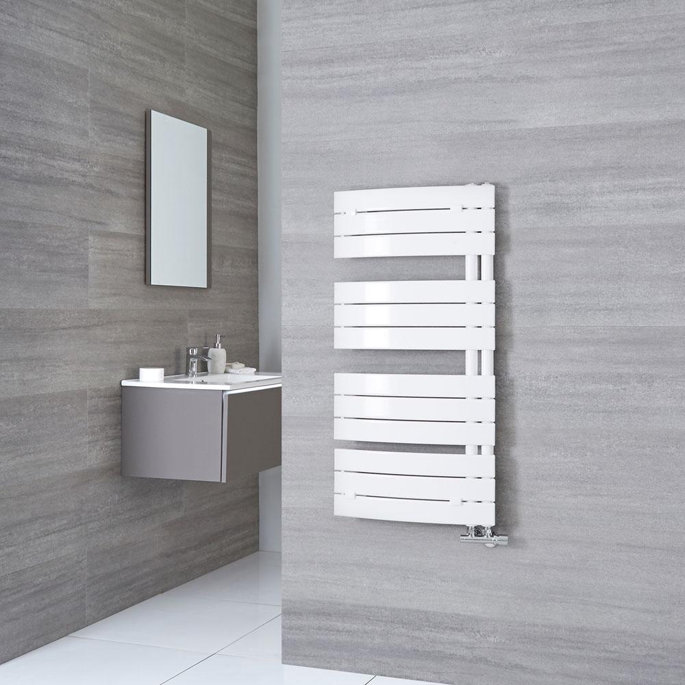 Milano Azore - White Designer Heated Towel Rail - 1080mm x 550mm
