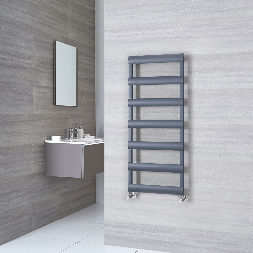 Milano Passo - Aluminium Anthracite Heated Towel Rail - 1190mm x 500mm