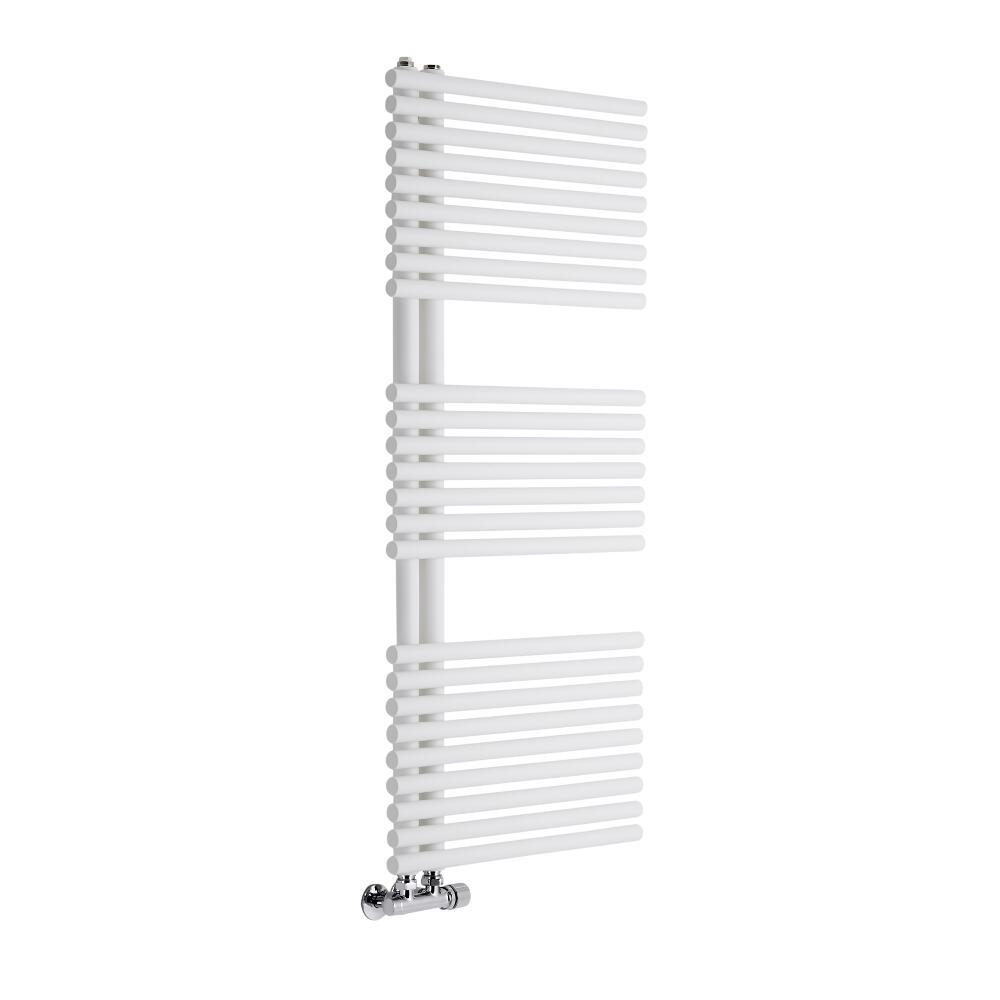 Lazzarini Way - Bari - Mineral White Designer Heated Towel Rail - 1120mm x 500mm