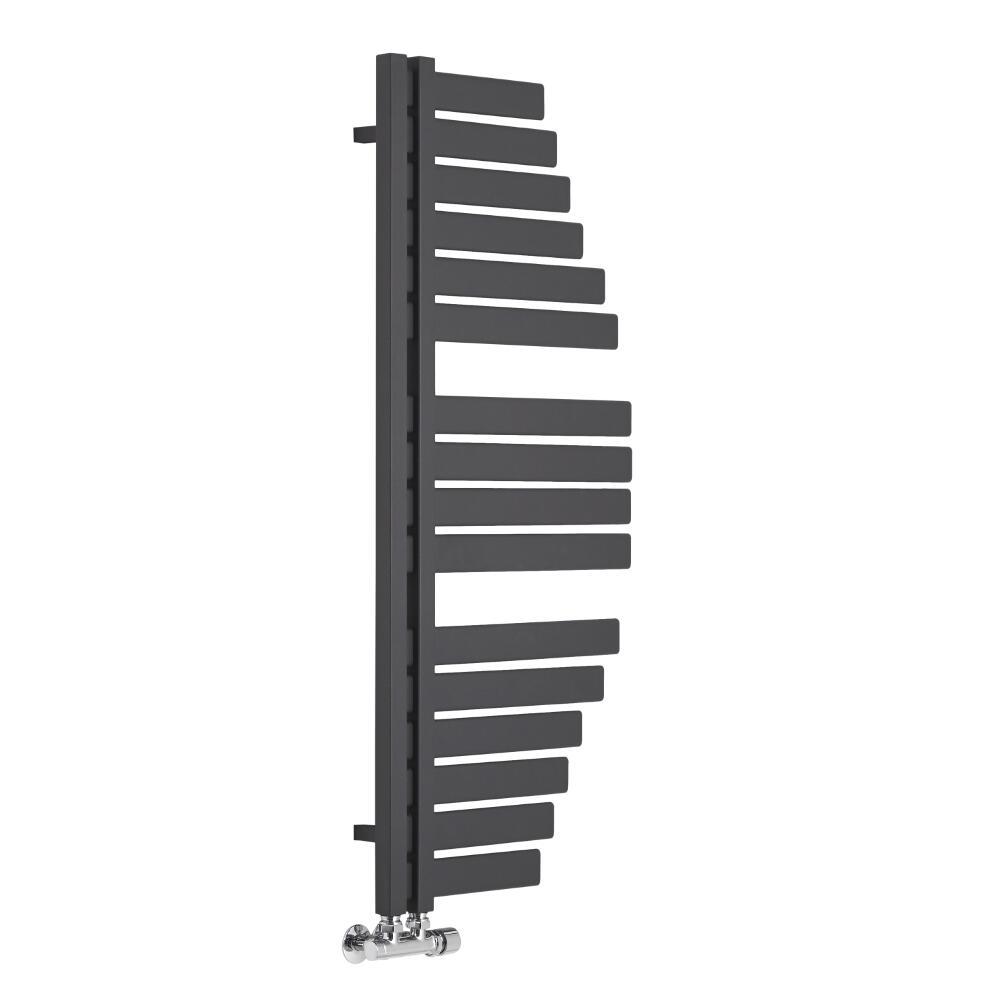 Lazzarini Way Spinnaker - Anthracite Designer Heated Towel Rail - 1100mm x 483mm