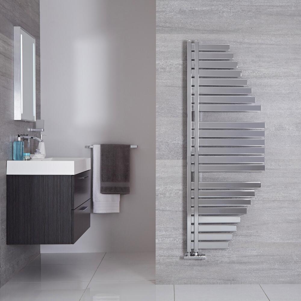 Lazzarini Way Spinnaker - Chrome Designer Heated Towel Rail - 1460mm x 547mm