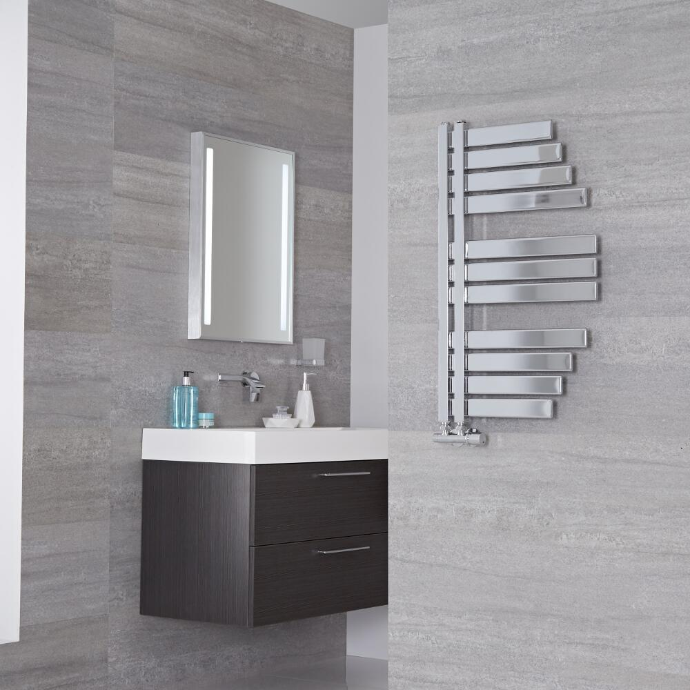 Lazzarini Way Spinnaker - Chrome Designer Heated Towel Rail - 800mm x 463mm