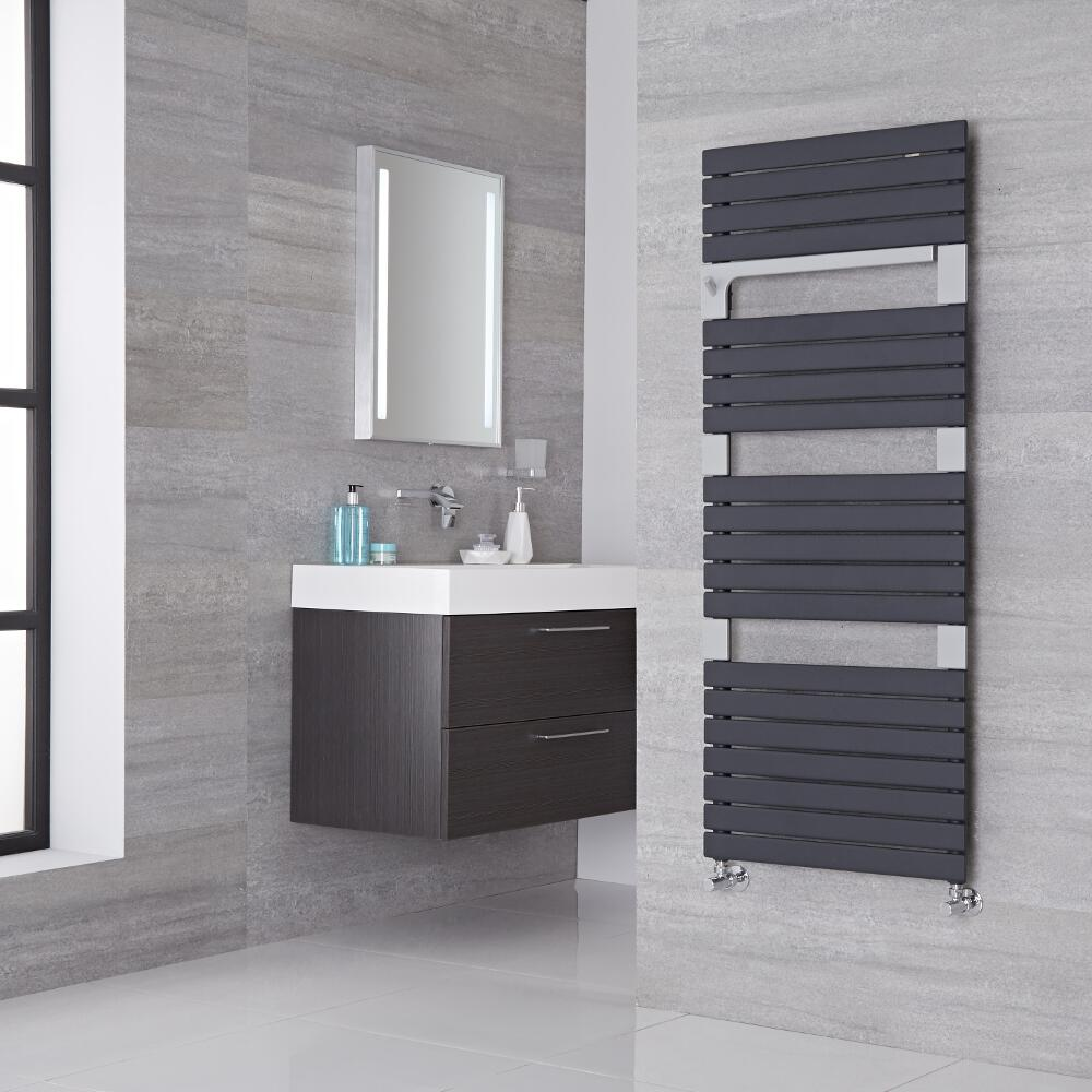Lazzarini Way Torino - Anthracite Designer Heated Towel Rail - 1360mm x 550mm