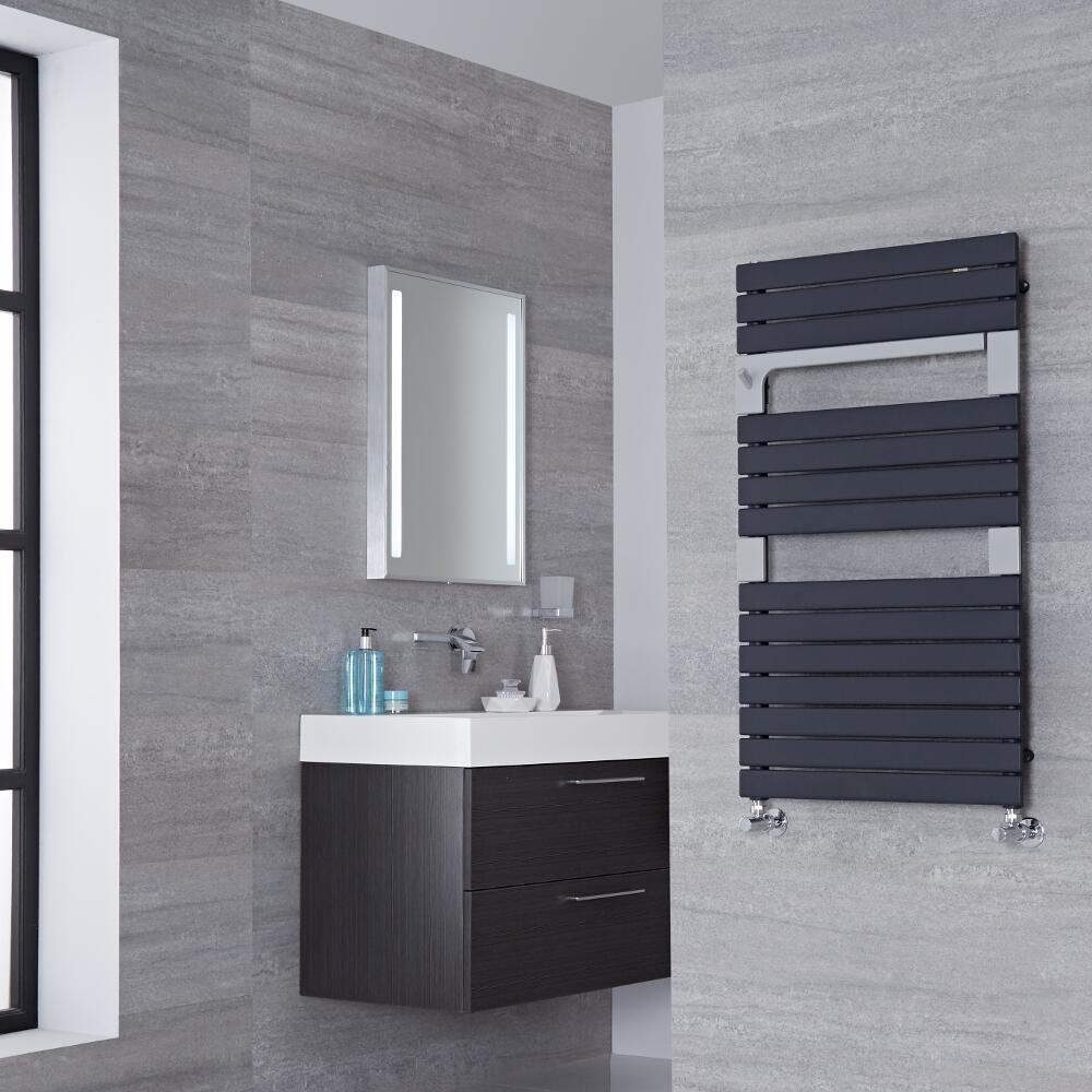 Lazzarini Way Torino - Anthracite Designer Heated Towel Rail - 952mm x 550mm