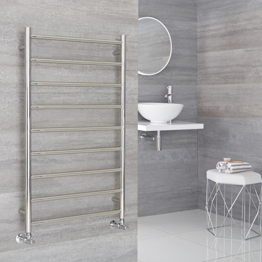 Milano Esk - Stainless Steel Flat Heated Towel Rail - 600mm x 1000mm
