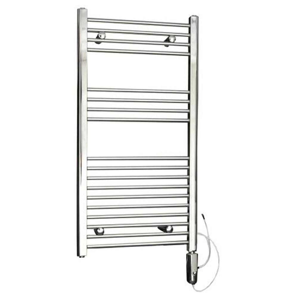 Kudox Electric - Chrome Flat Thermostatic Heated Towel Rail - 1000mm x 500mm