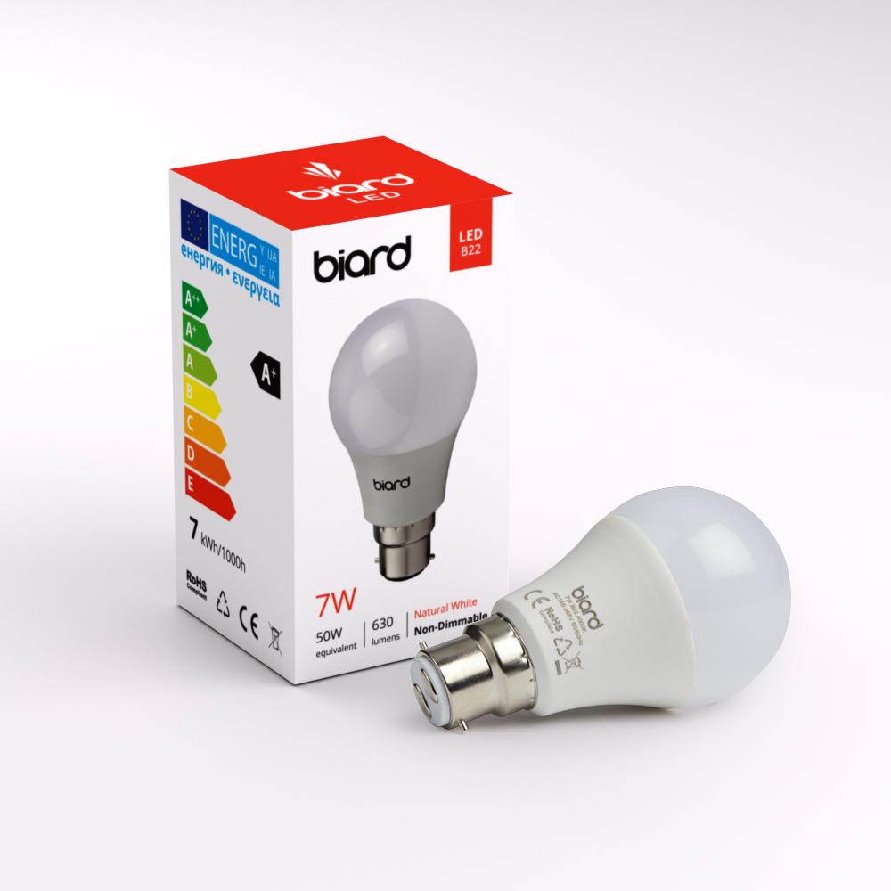 Biard Bulb 7W B22 LED