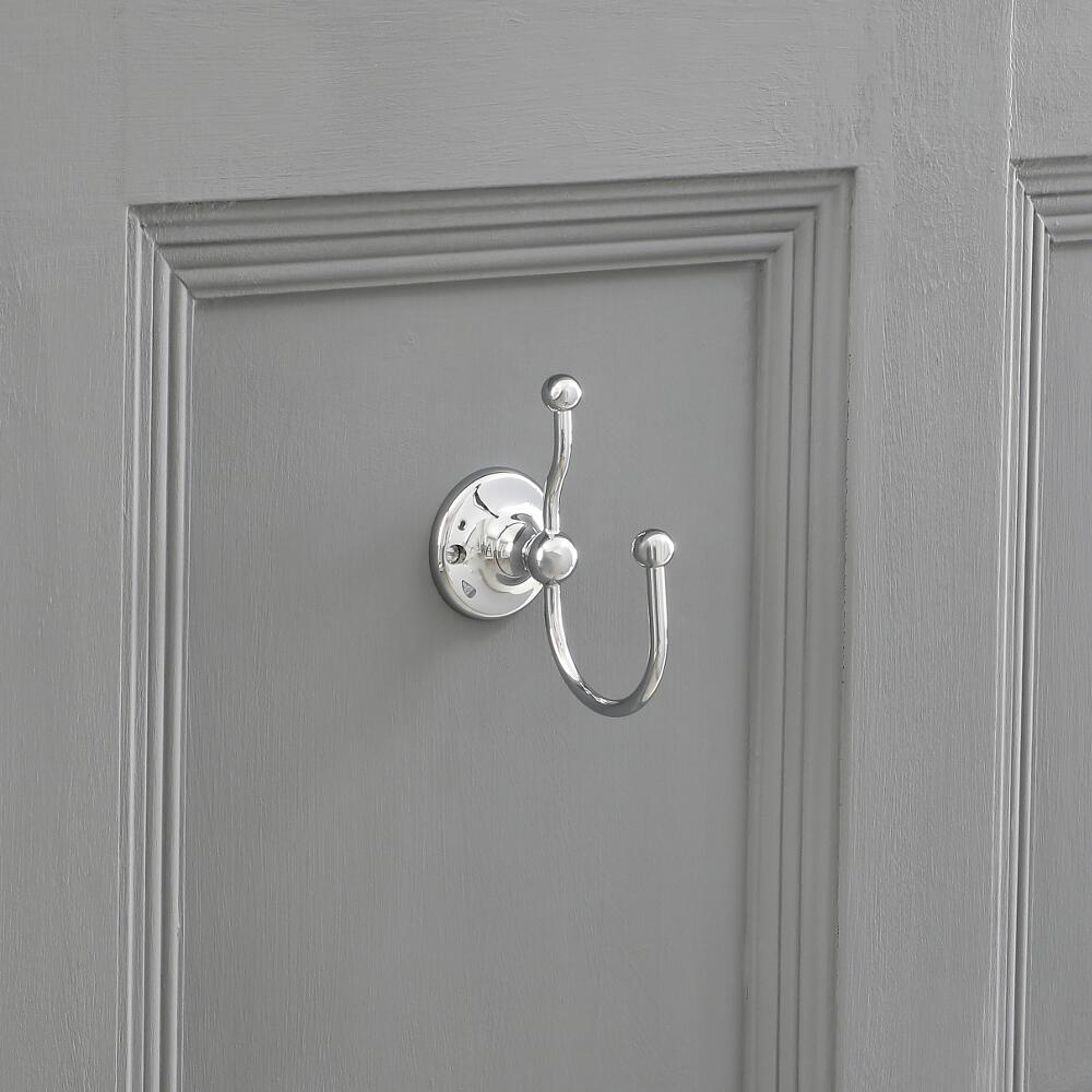 Milano Elizabeth - Traditional Robe Hook - Chrome