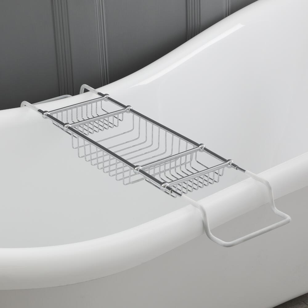 Milano Elizabeth - Traditional Chrome Adjustable Bath Rack
