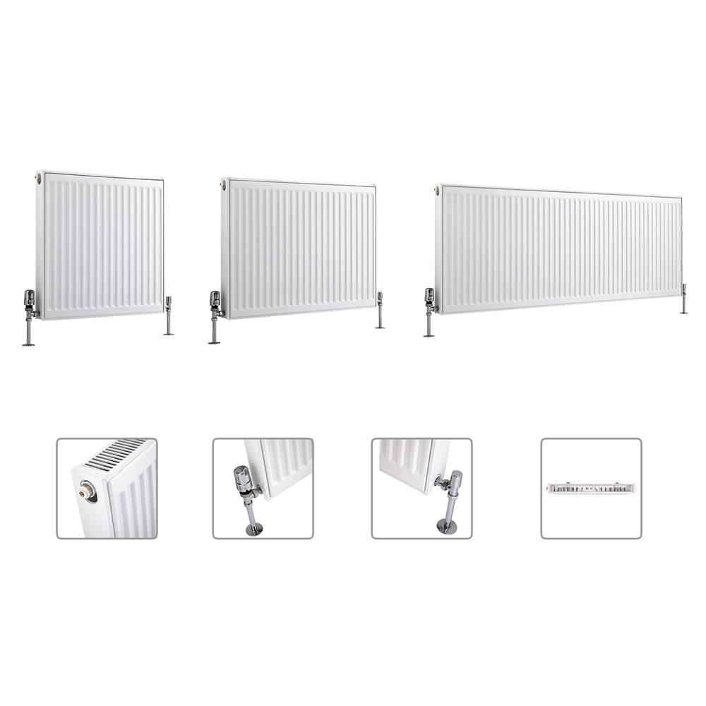 Milano Compact - Single Panel Radiator - Multiple Sizes Available (Type 11)