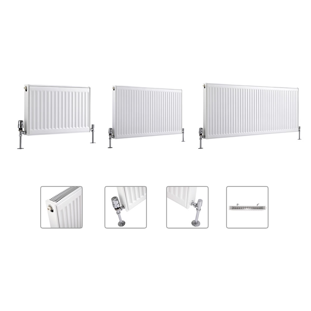 Milano Compact - Double Panel Plus Radiator - Multiple Sizes Available (Type 21)
