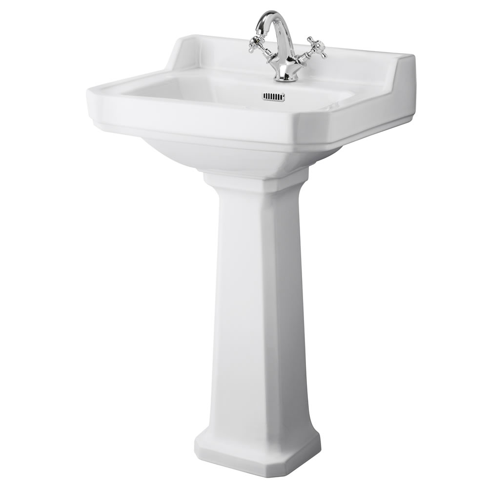 Old London Richmond 560mm 1TH Basin & Pedestal
