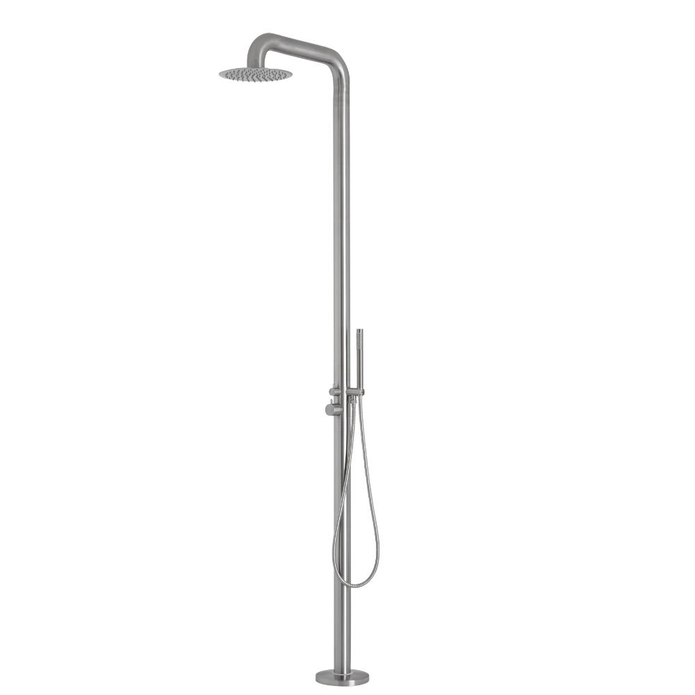 Milano Adra - Outdoor Shower with Hand Shower & Brushed Finish