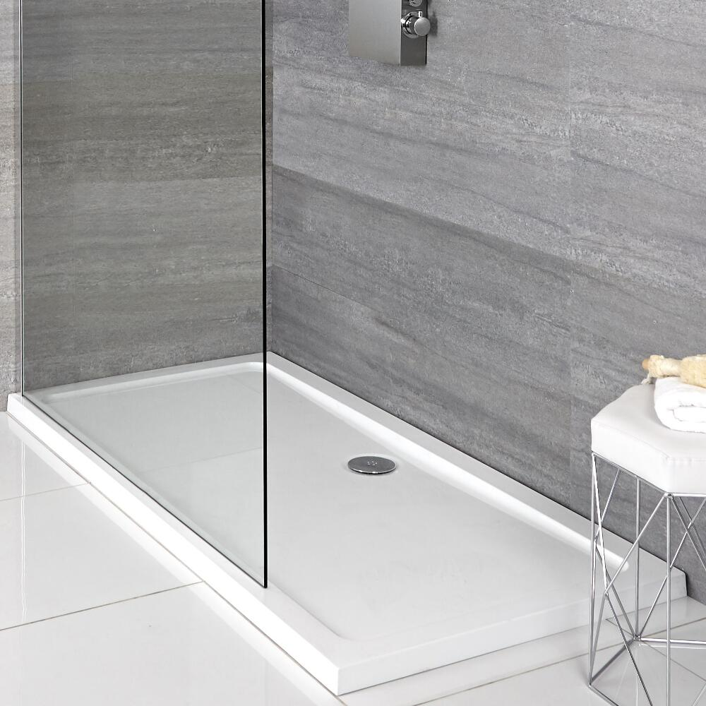 Milano Lithic - Low Profile Rectangular Shower Tray - 1100mm x 800mm