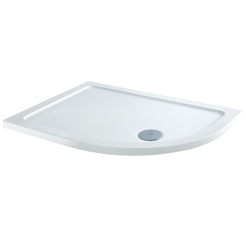Milano Low Profile Offset Quadrant Shower Tray RH 1200 x 800mm