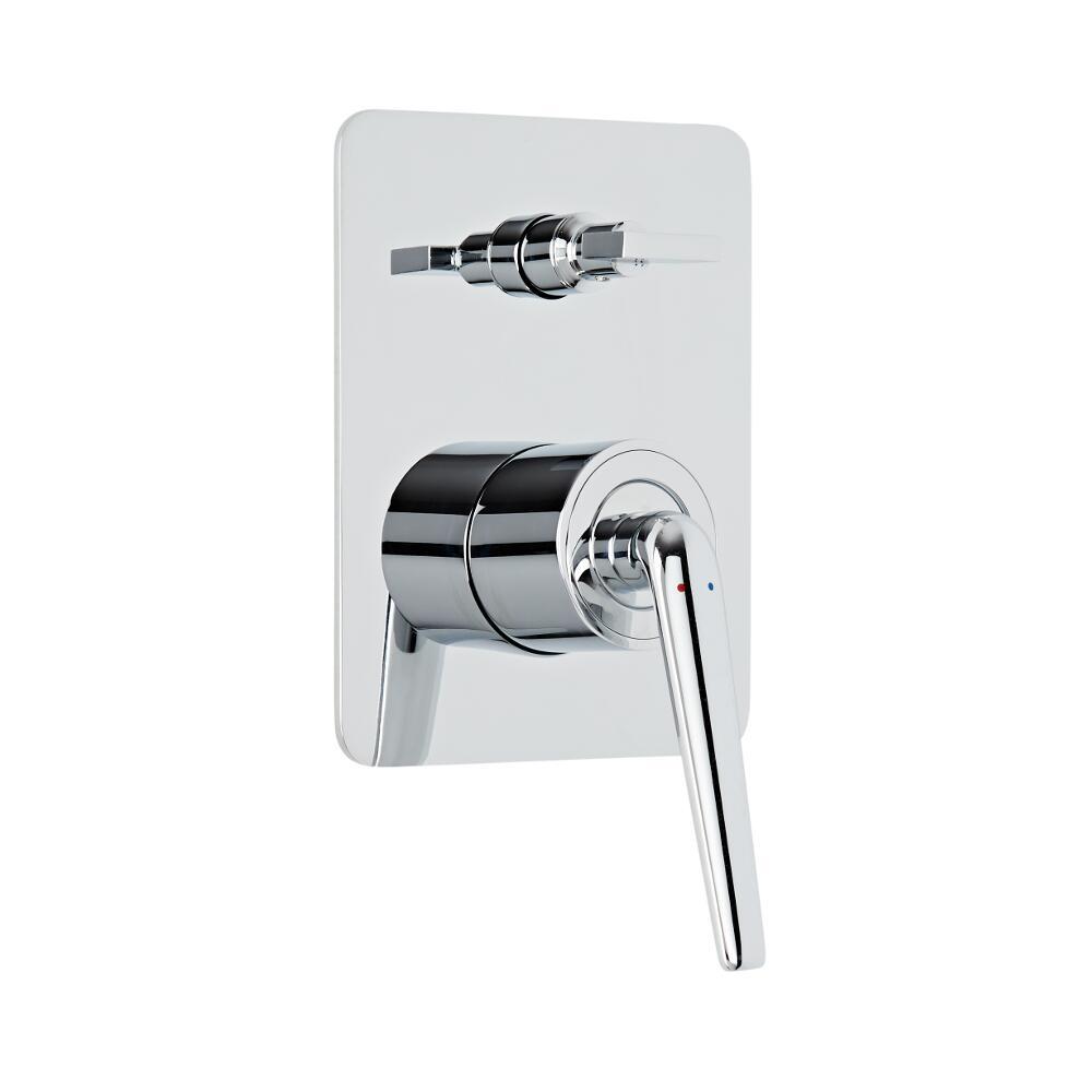 Milano Vora - Modern Manual Shower Valve with Diverter - 2 Outlets - Chrome