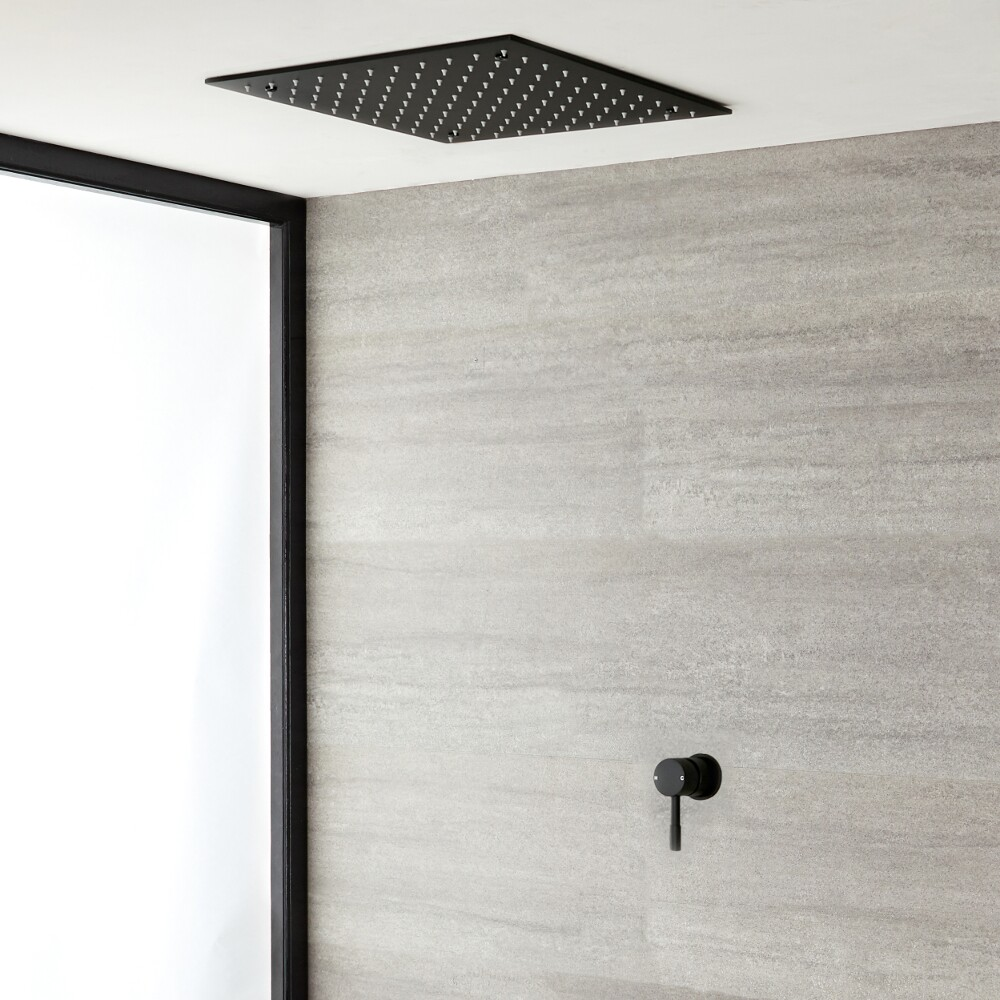 Milano Nero - Black Shower with Recessed Shower Head (1 Outlet)
