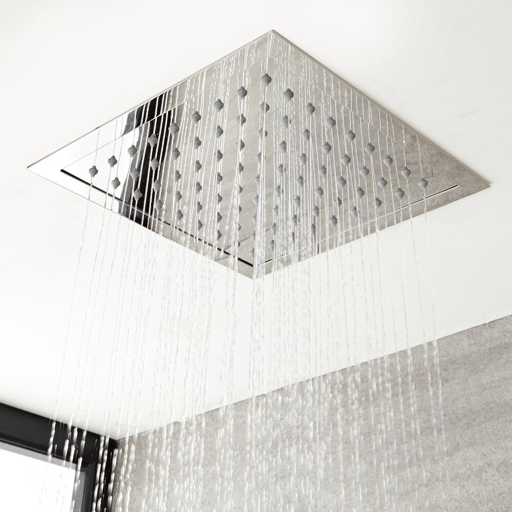 Milano Arvo - Modern 280mm Square Recessed Shower Head - Chrome