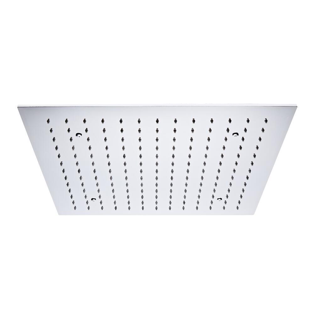 Milano Trenton - 500mm Square Ceiling Head polished Chrome