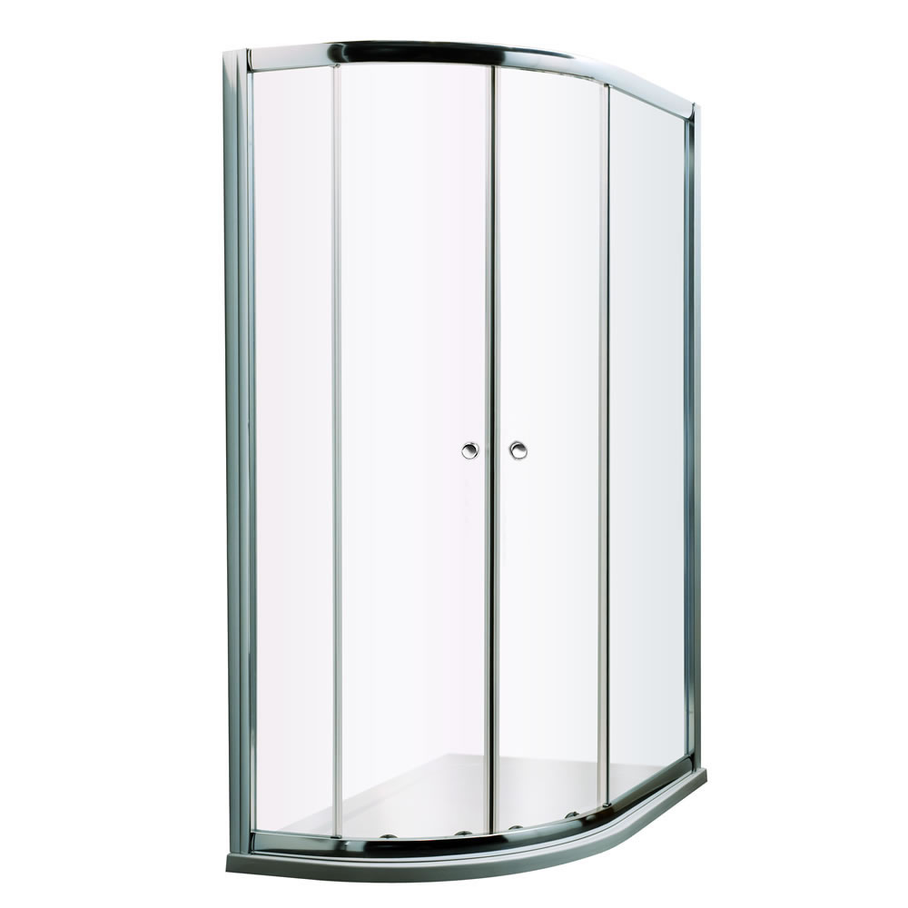 Milano Portland - Left Handed Complete Offset Quadrant Shower Enclosure With Tray and Waste - 1000mm x 800mm