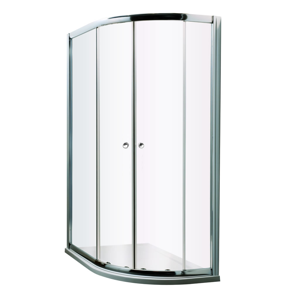 Milano Portland - Right Handed Complete Offset Quadrant Shower Enclosure With Tray and Waste 1200 x 900mm