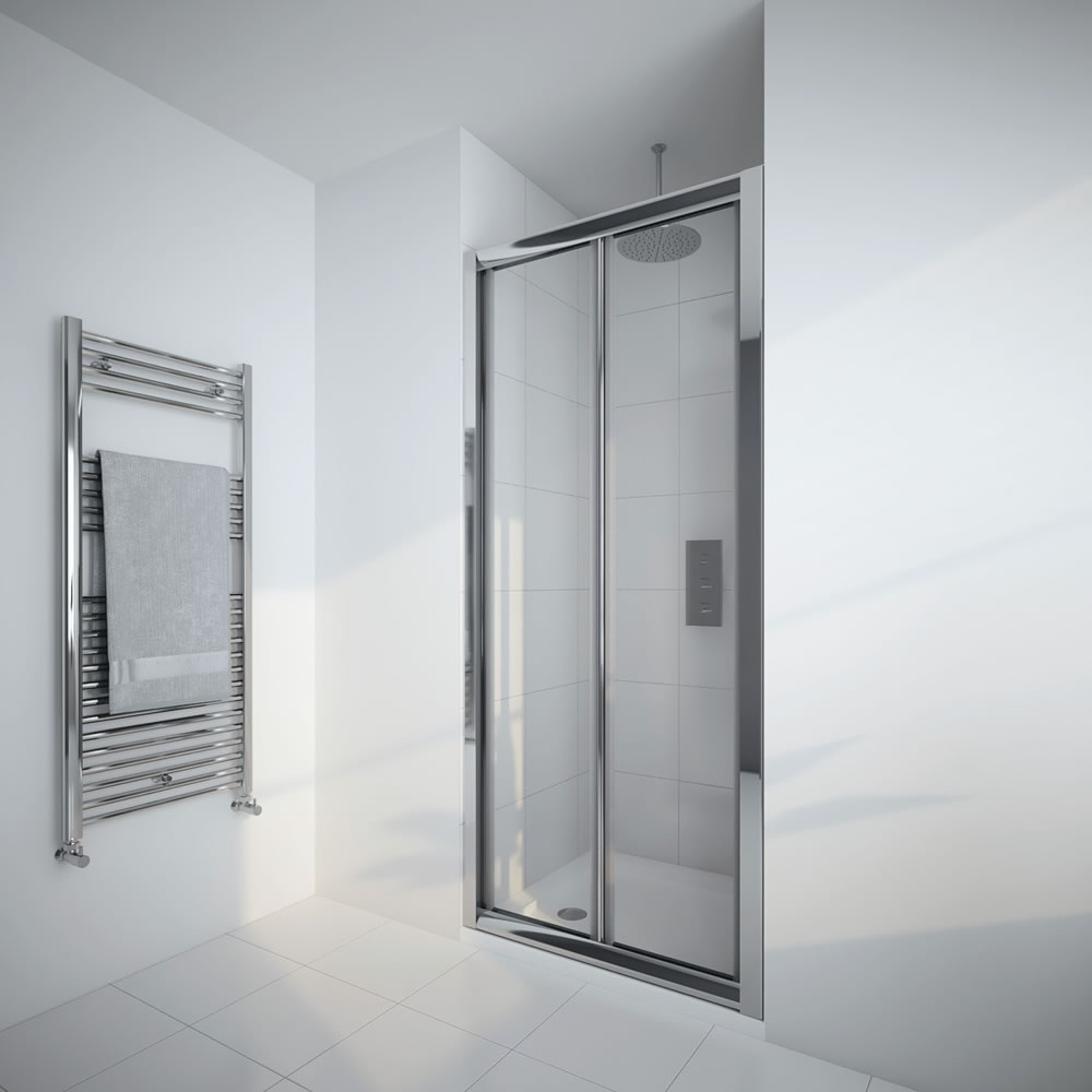 Milano Portland - 800mm Bi-Fold Shower Door - Chrome