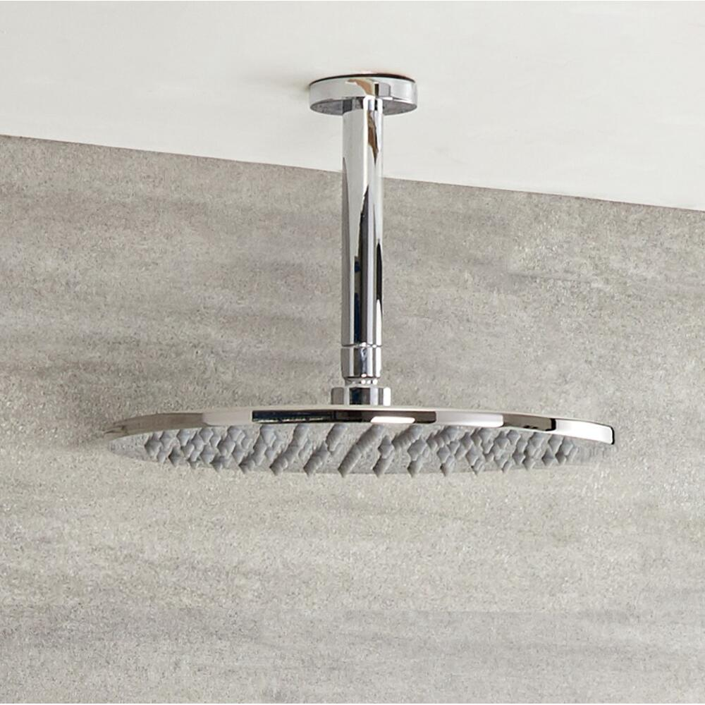 Milano Mirage - 200mm Round Shower Head and Ceiling Arm (300mm)