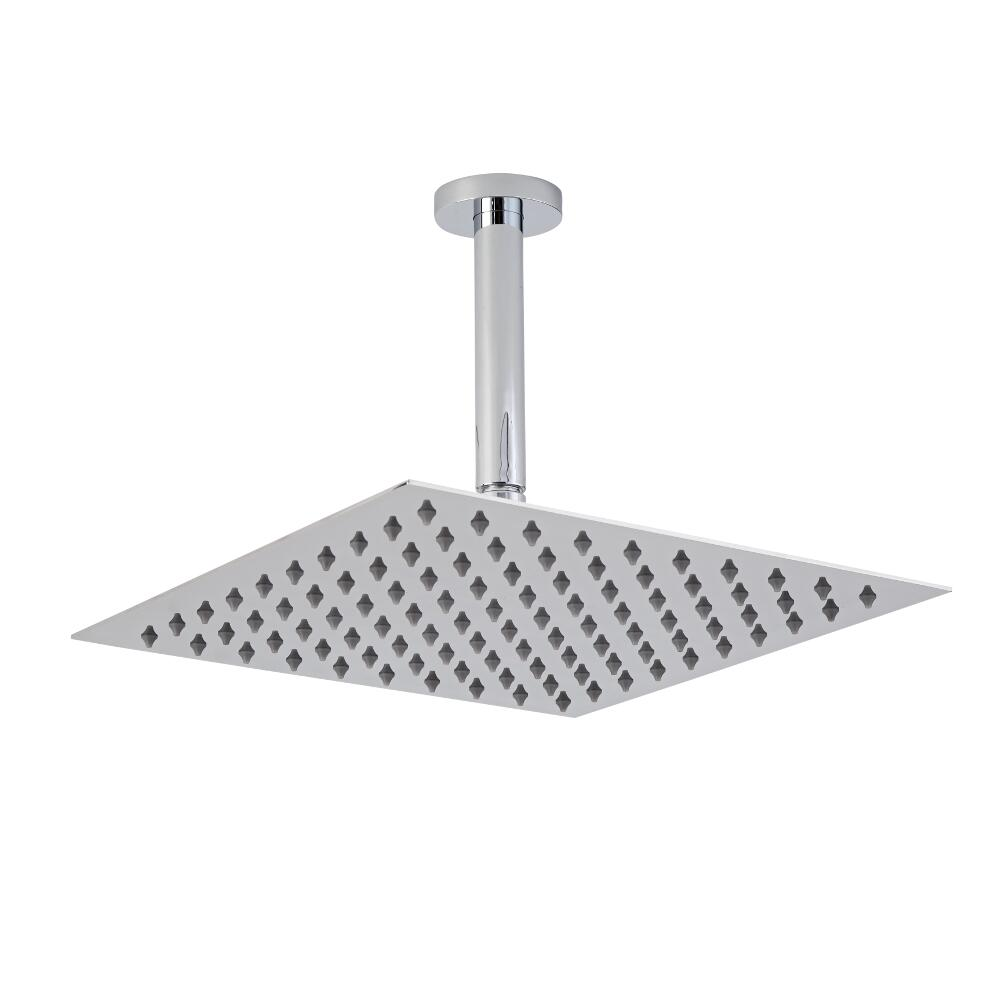 300mm Slim Square Shower Head and Ceiling Arm