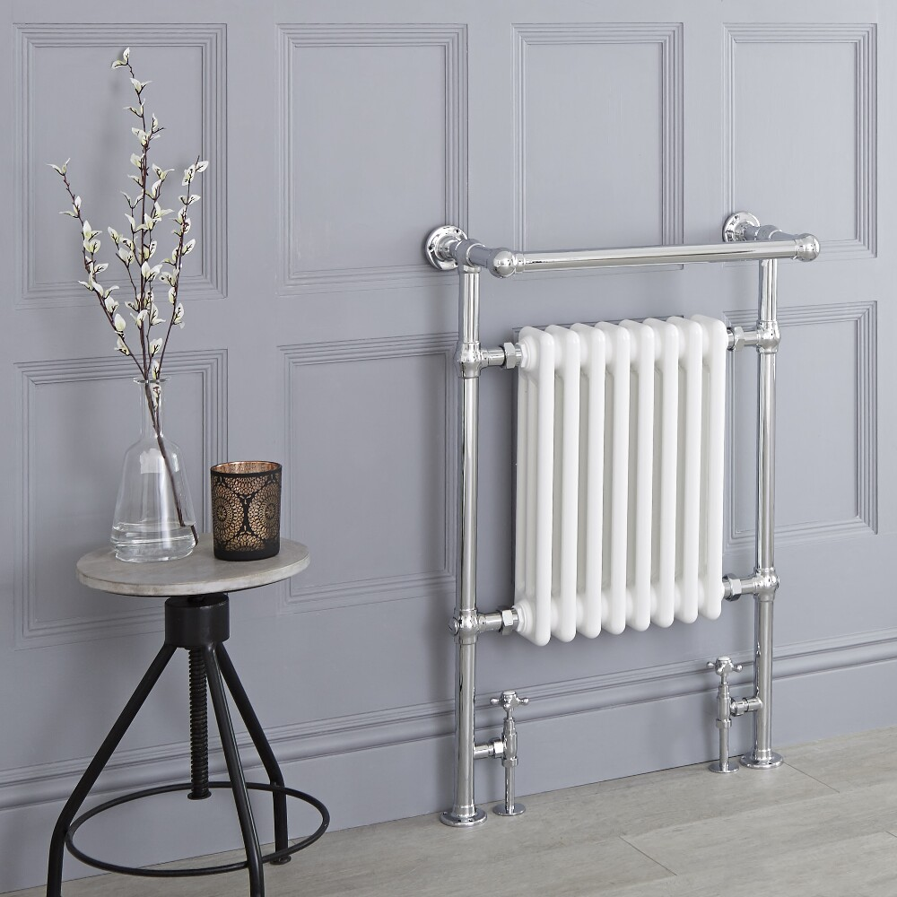 Milano Trent - Traditional Heated Bathroom Towel Radiator Rail - 930mm x 620mm