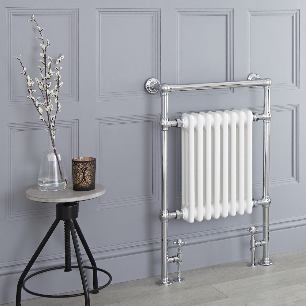 Milano Trent - Traditional Heated Bathroom Towel Radiator - 930mm x 620mm