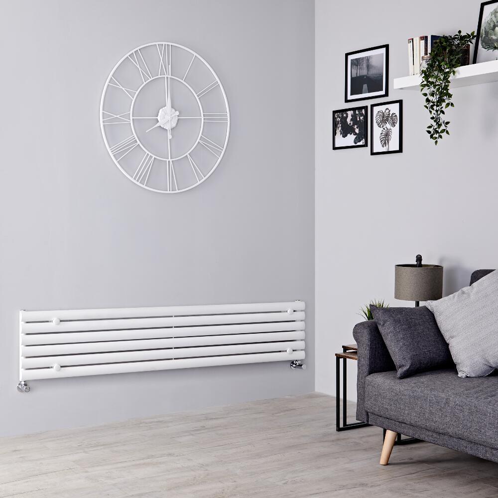 Milano Aruba - White Horizontal Designer Radiator - 354mm x 1780mm