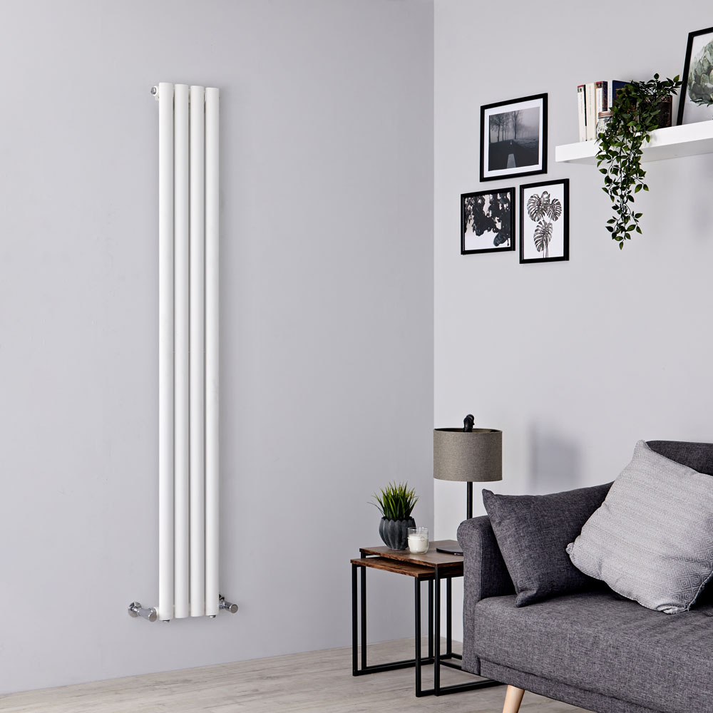 Milano Aruba Slim - White Space-Saving Vertical Designer Radiator - 1780mm x 236mm