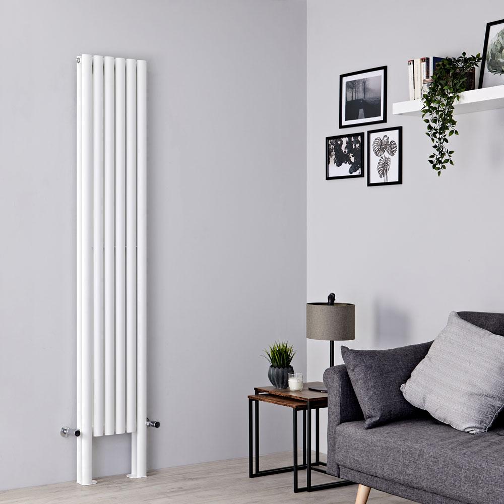 Milano Aruba Plus - White Vertical Designer Radiator - 2000mm x 354mm (Double Panel)