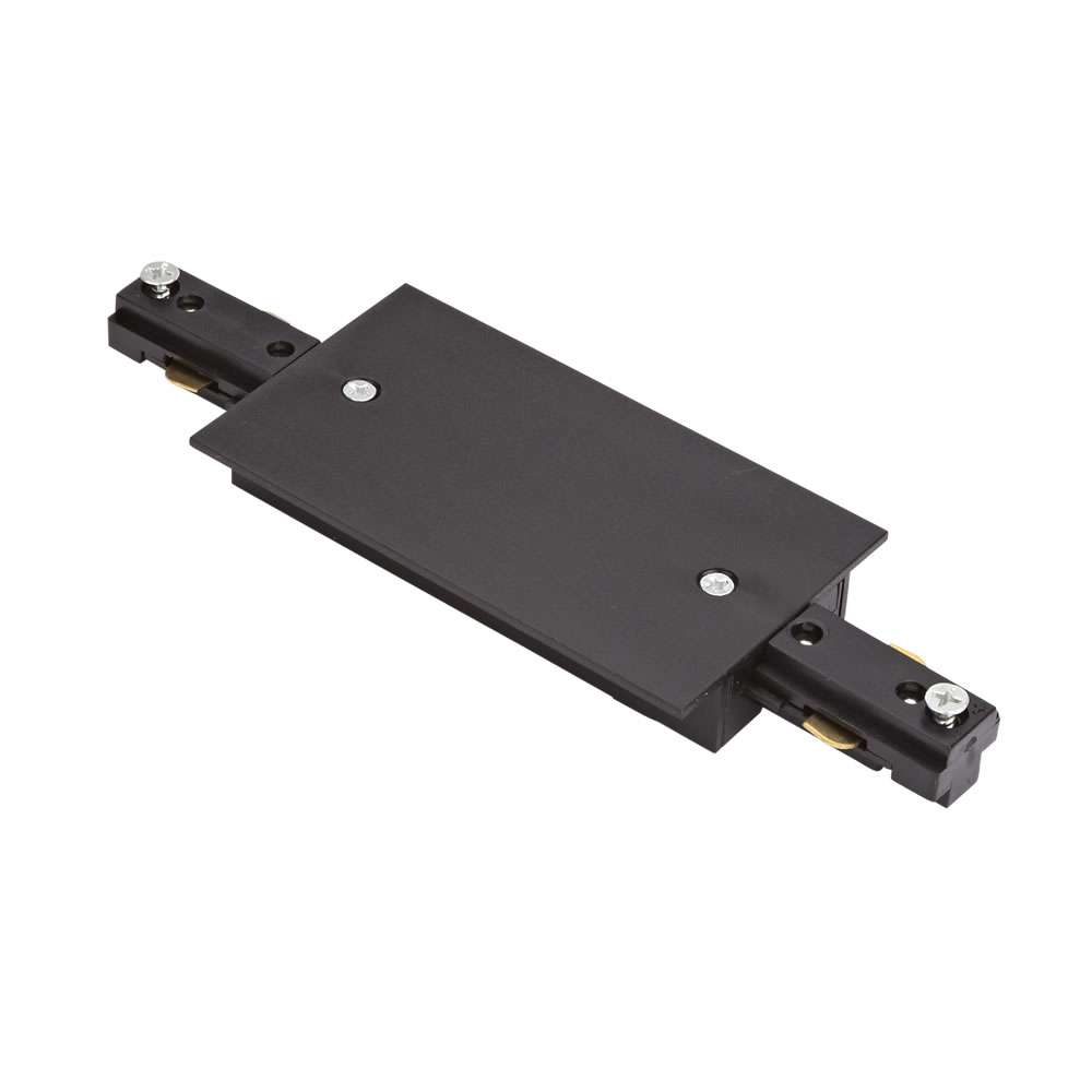 Biard Straight Connector for Recessed Track Light - Black